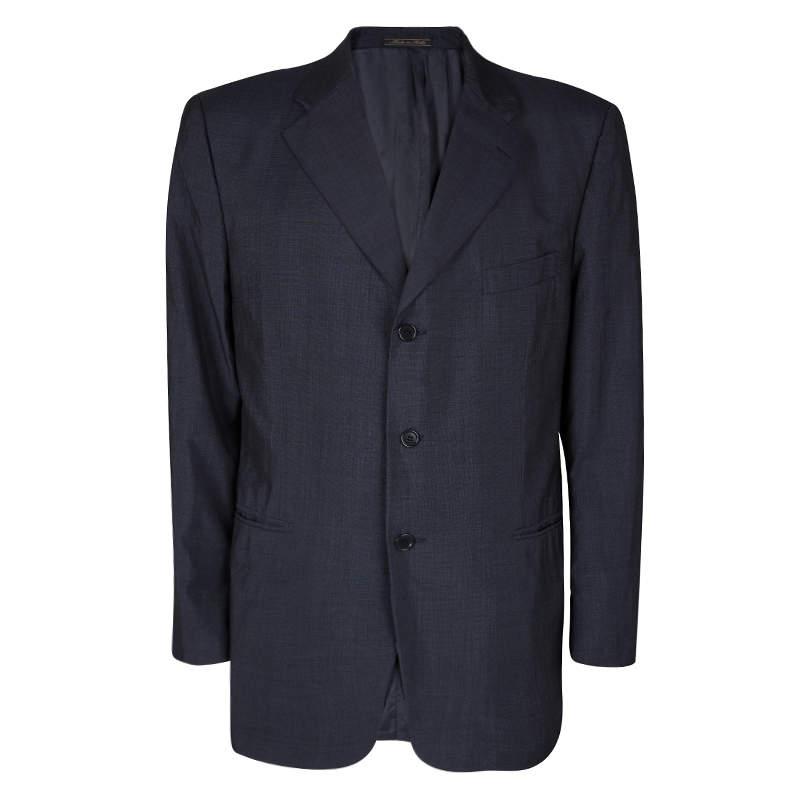 Loro Piana Navy Blue Wool Renoma Blazer 3XL