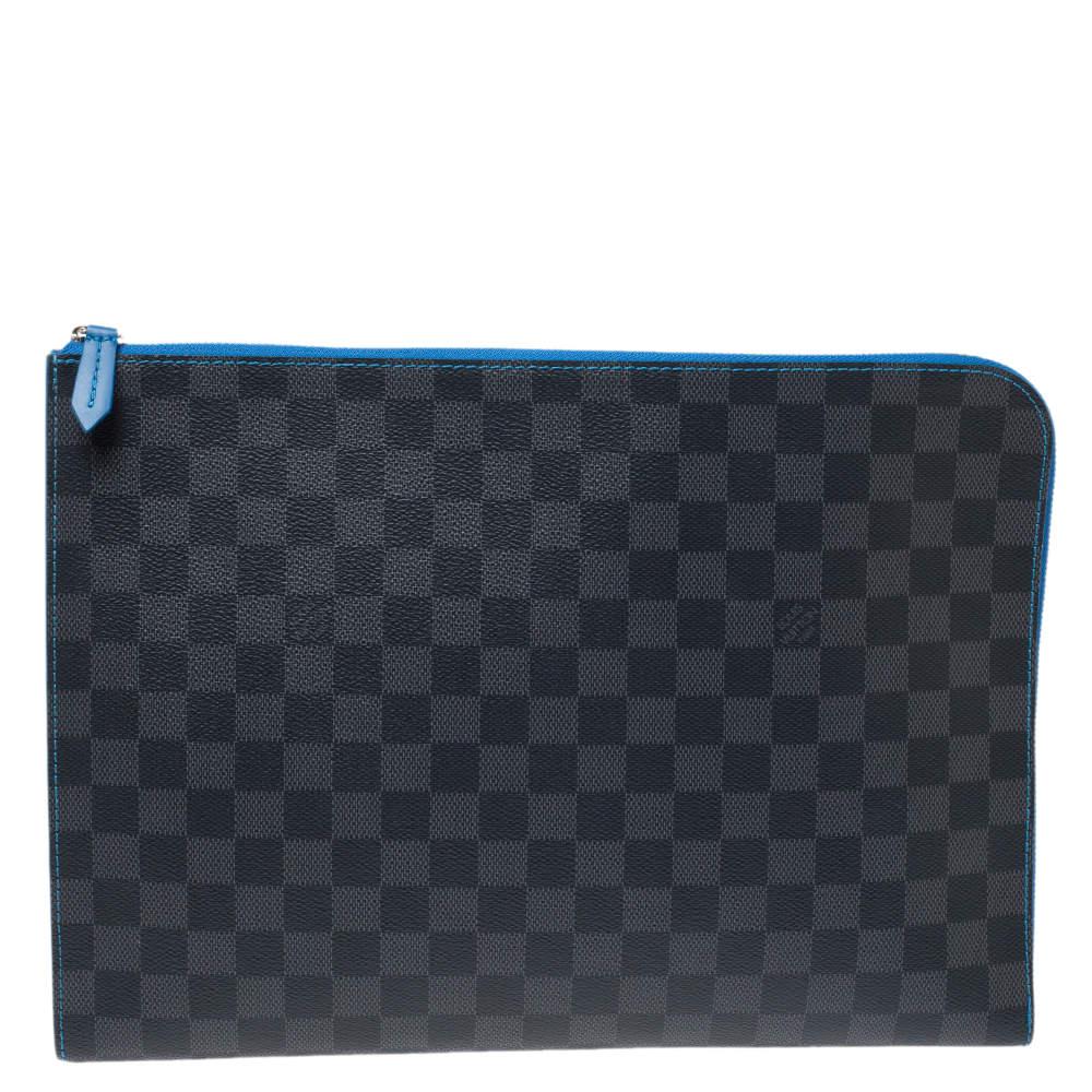 Louis Vuitton Blue Damier Graphite Canvas Pochette Jour GM