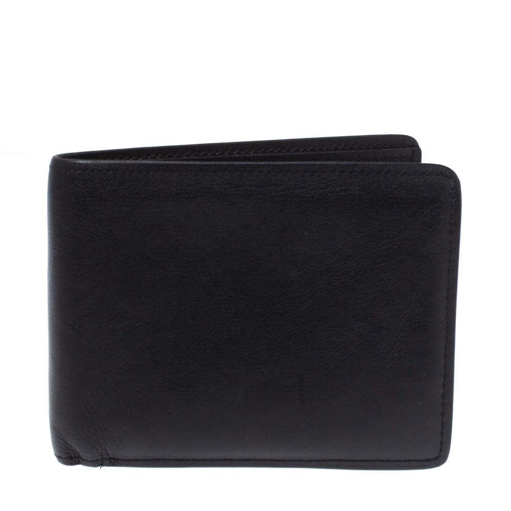 Louis Vuitton Black Leather Monogram Embossed Multiple Wallet