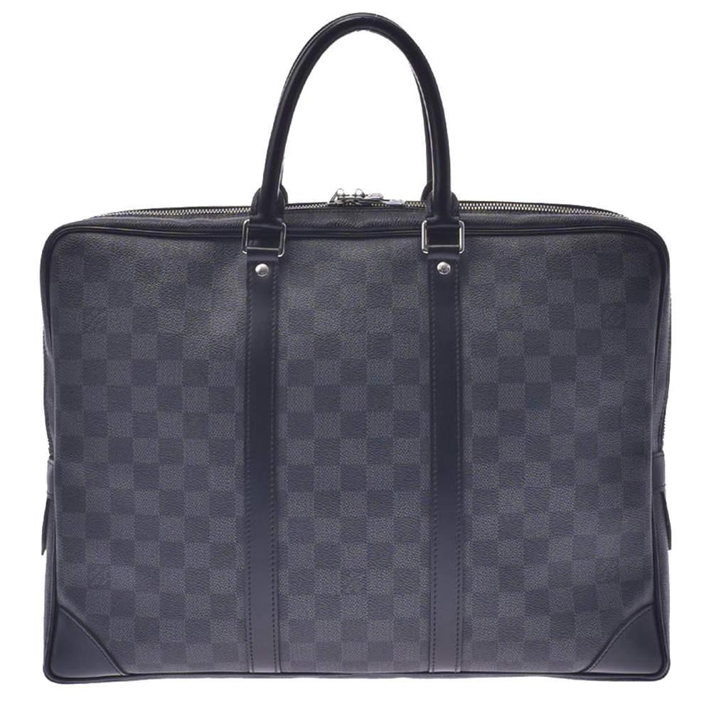 Louis Vuitton Black Damier Graphite Canvas Porte-Documents Voyage Bag