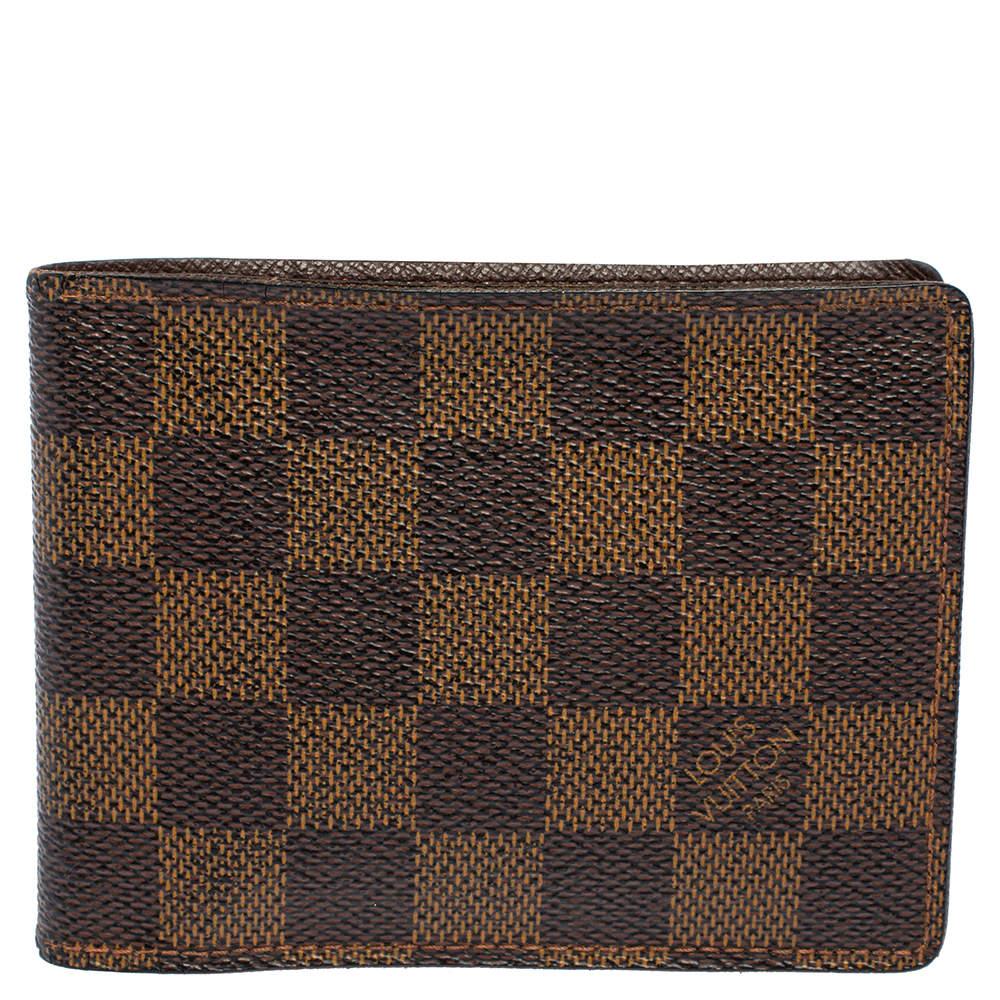 Louis Vuitton Damier Ebene Canvas Multiple Wallet
