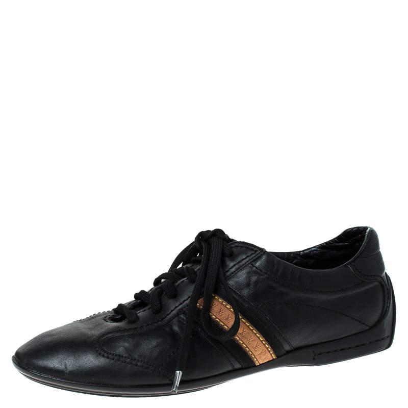 حذاء رياضي لوي فيتون جلد أسود مقاس 42