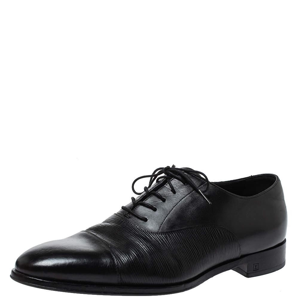 Louis Vuitton Black Leather Lace Up Oxford Size 42.5