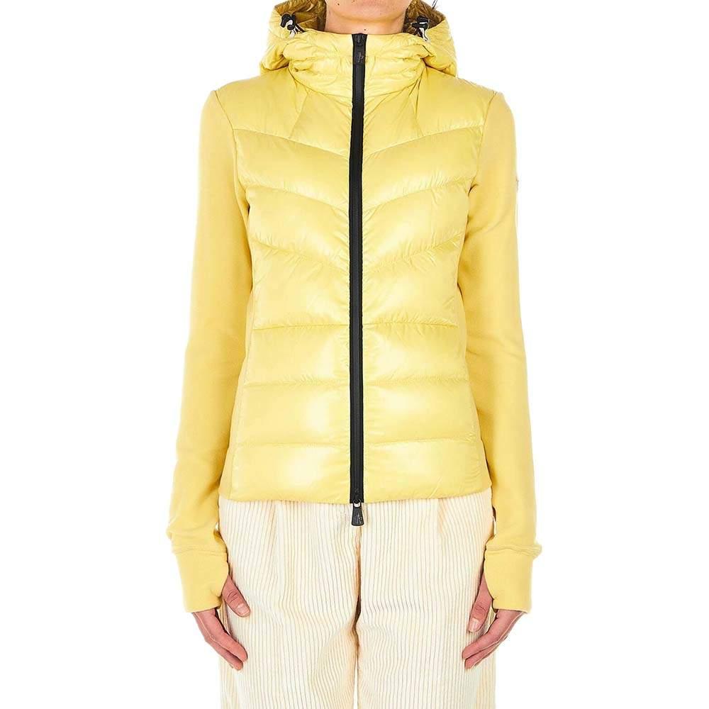 Moncler Beige Fleece Jacket Down Filling Size XS