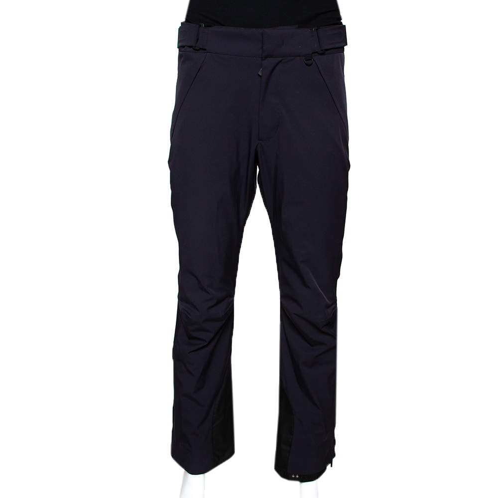 Moncler Navy Blue Synthetic Grenoble Trousers S