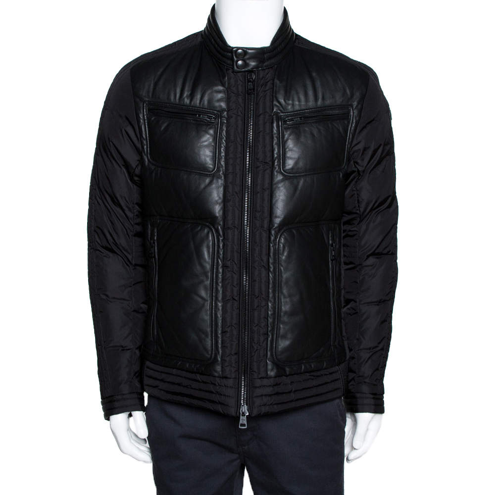 Moncler Black Down Quilted Allemand Jacket XL