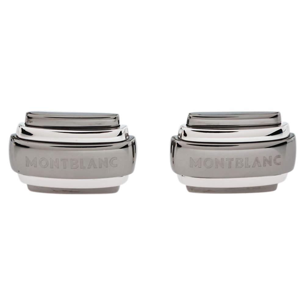Montblanc Silver Rectangular Cufflinks