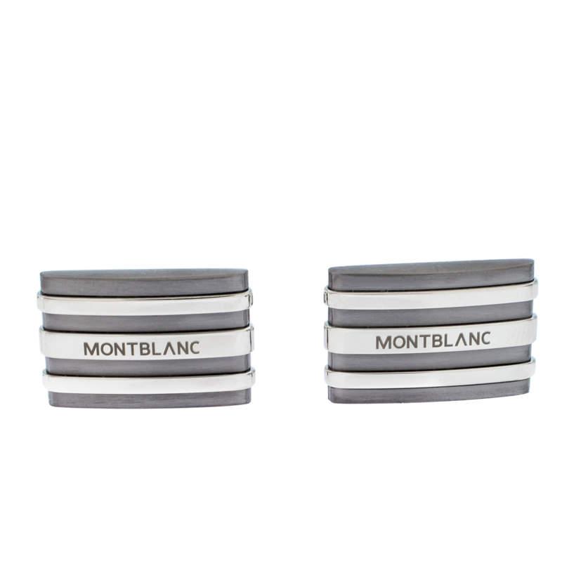 Montblanc Meisterstuck Stainless Steel & Tantalum Rectangular Cufflinks