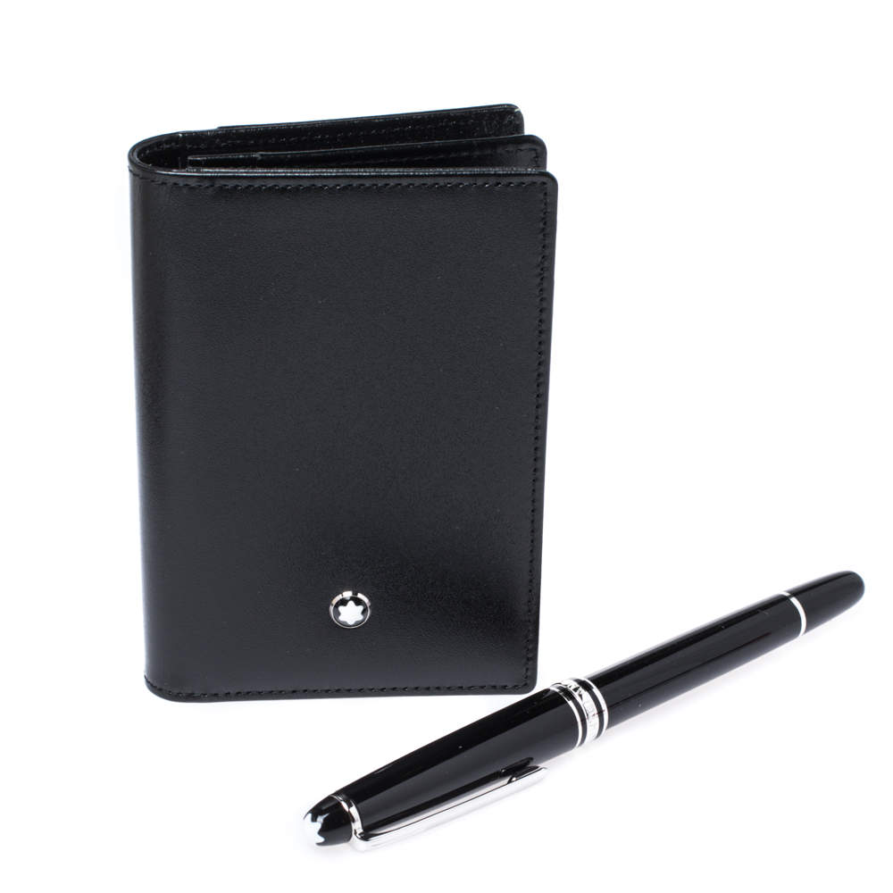 Montblanc Meisterstuck Classique Fineliner Pen & Business Card Holder Set