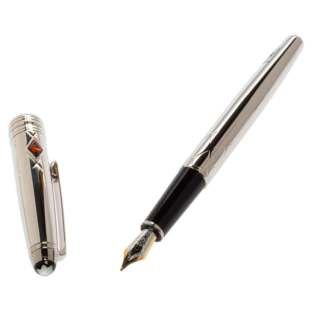 Montblanc Meisterstuck Jungle Eyes Platinum Plated Fountain Pen