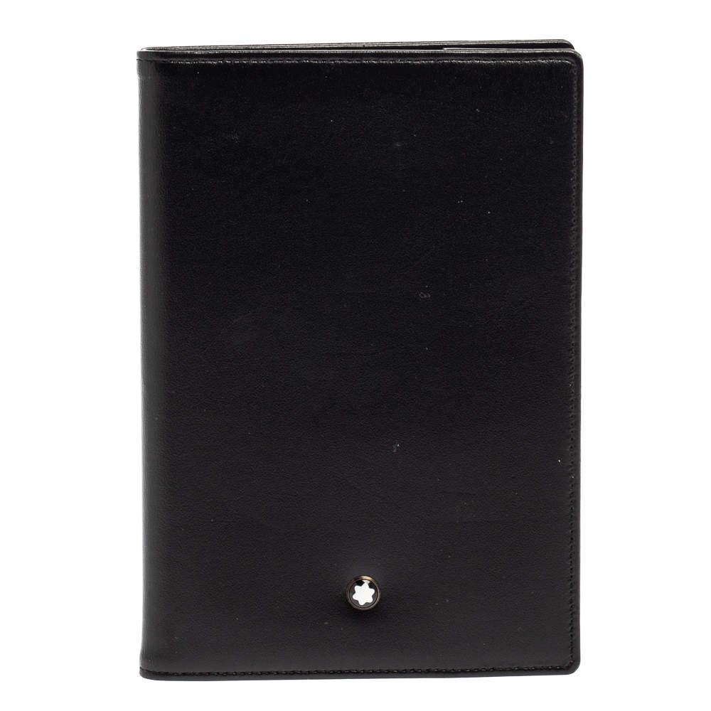 Montblanc Black Leather Meisterstuck Passport Holder
