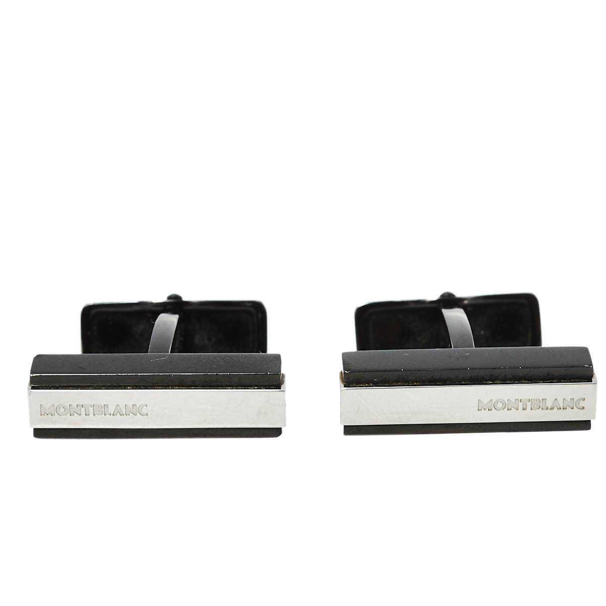 Montblanc Iconic Black PVD Steel Cufflinks