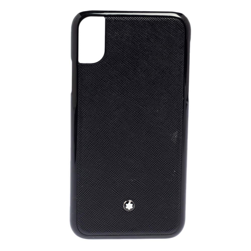 Montblanc Black Leather Sartorial iPhone XR Hard Phone Case