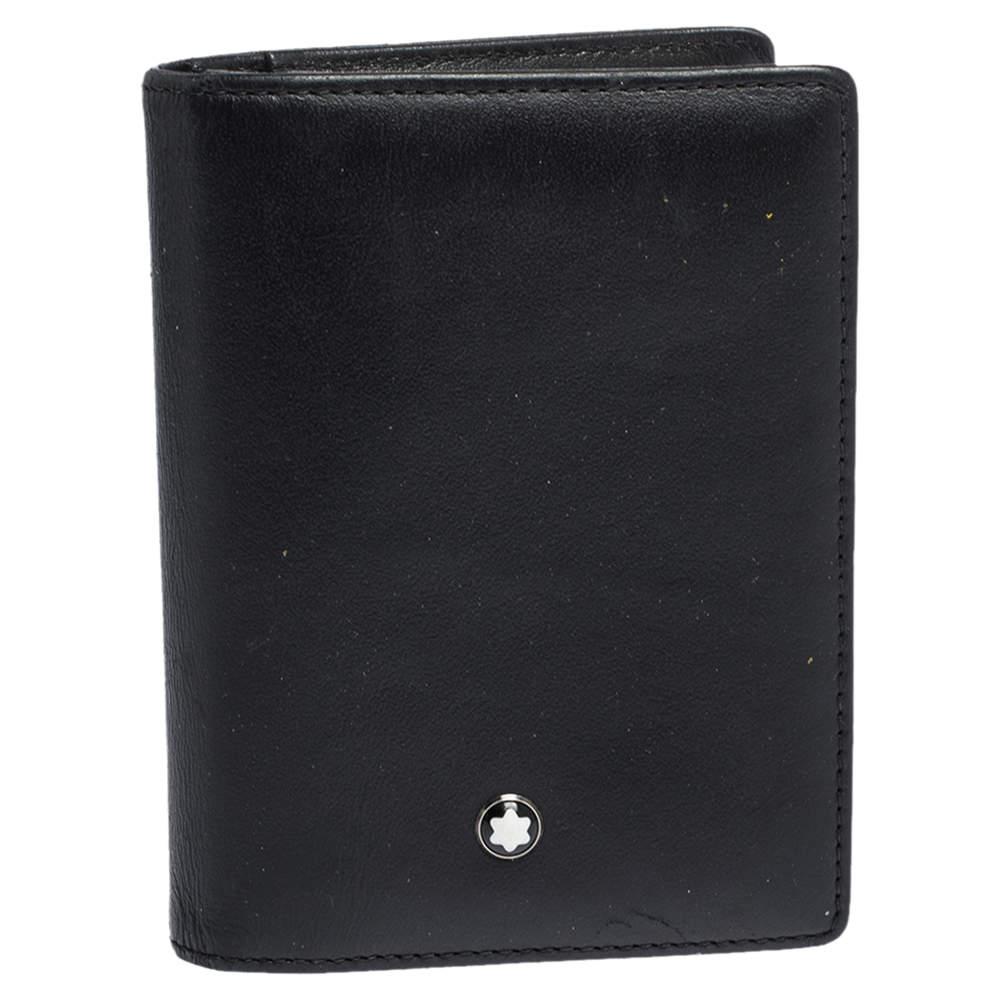 Montblanc Black Leather Meisterstuck Bifold Card Holder