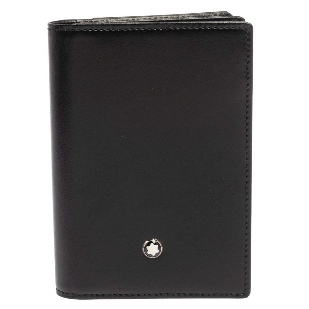 Montblanc Black Leather Meisterstück Business Card Holder