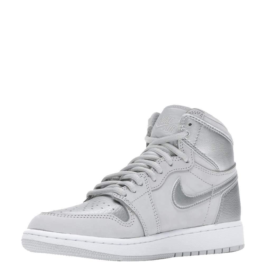 Nike Jordan 1 Retro High CO Japan Neutral Grey Sneakers Size US 6Y (EU 38.5)