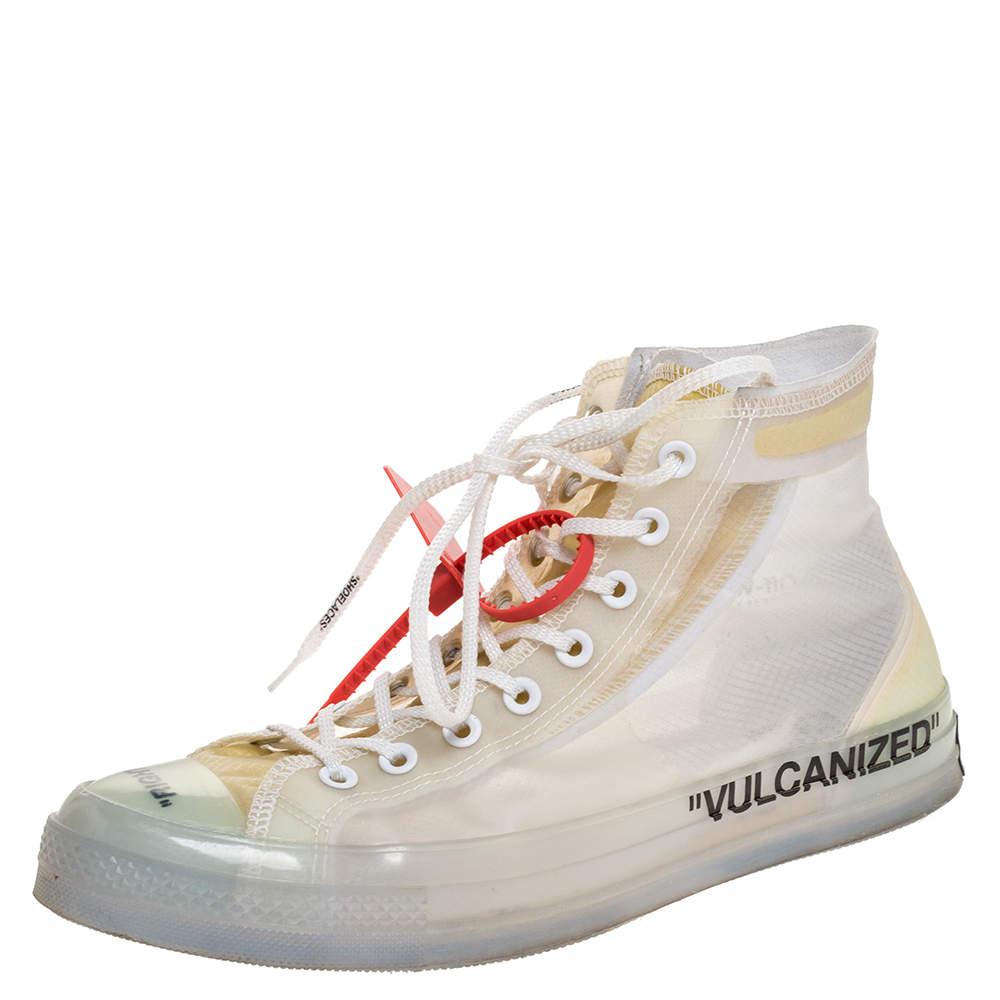 Rubber Vulcanized Hi Top Sneaker Size