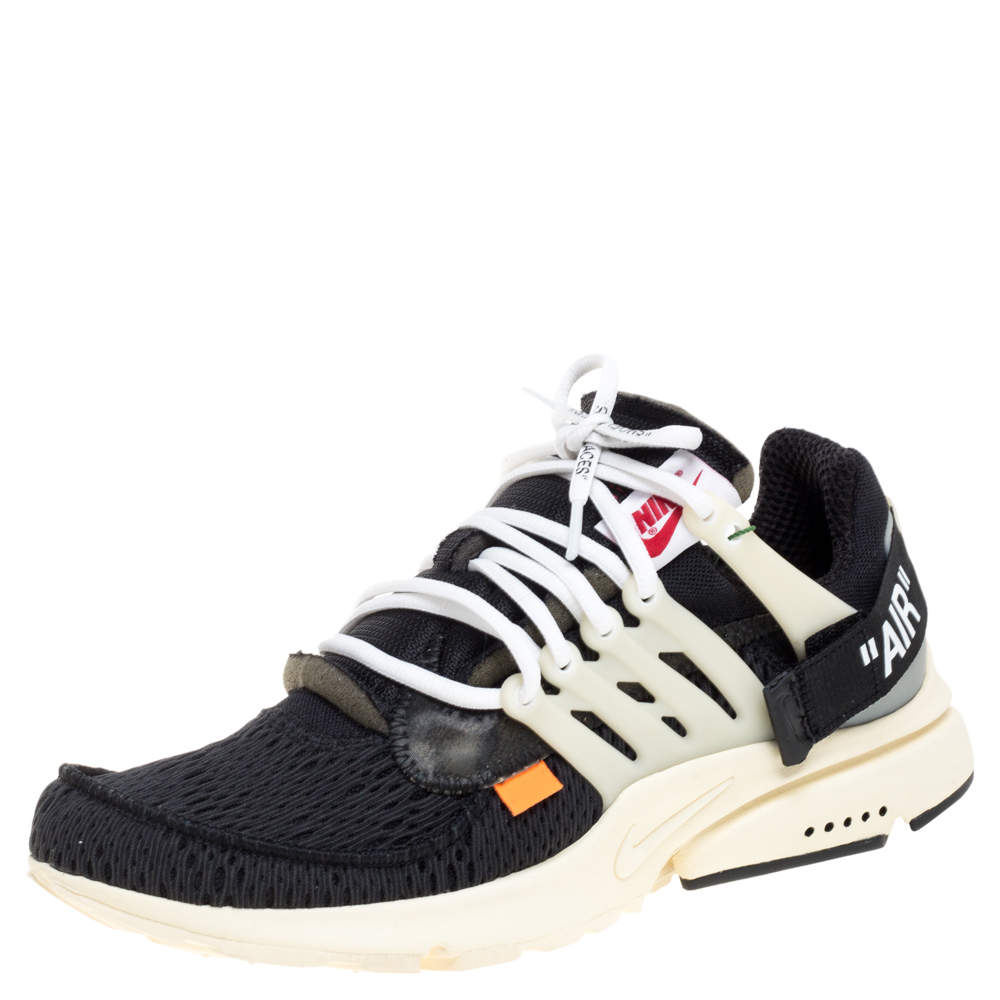 Off White x Nike Black Mesh Fabric The 10 Nike Air Presto Sneakers Size 42.5