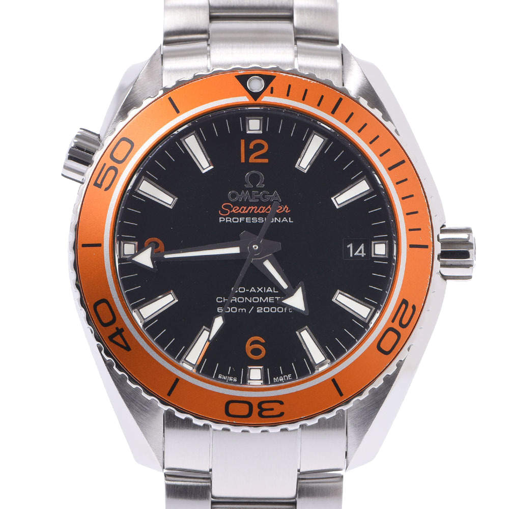 Omega Black Stainless Steel Seamaster Planet Ocean 232.30.42.21.01.002 Automatic Men's Wristwatch 42 MM