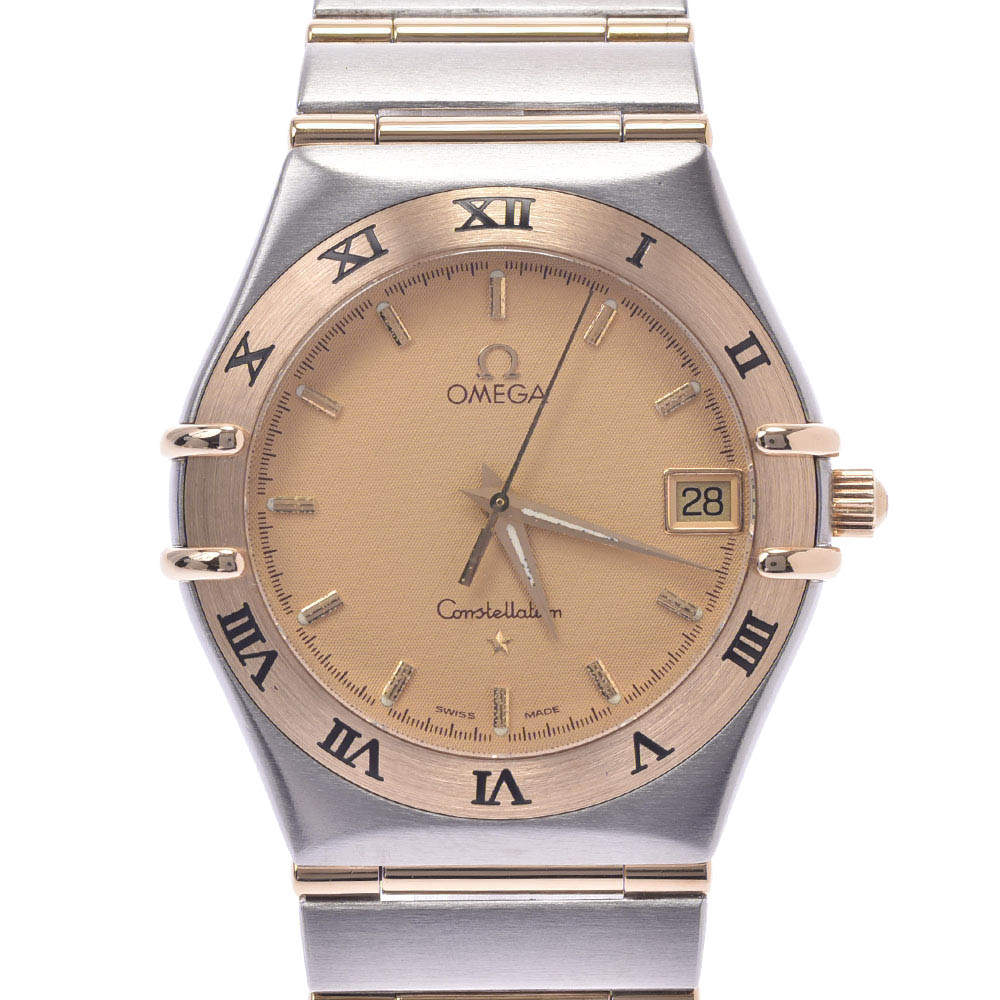 Omega Champagne 18K Yellow Gold And Stainless Steel Constellation 1212.10 Men's Wristwatch 33 MM