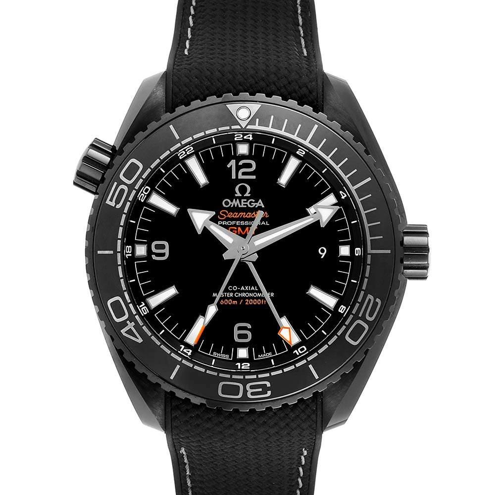 ساعة يد رجالية أوميغا بلانيت أوشن ديب GMT 215.92.46.22.01.001 سيراميك سوداء 45.5 مم