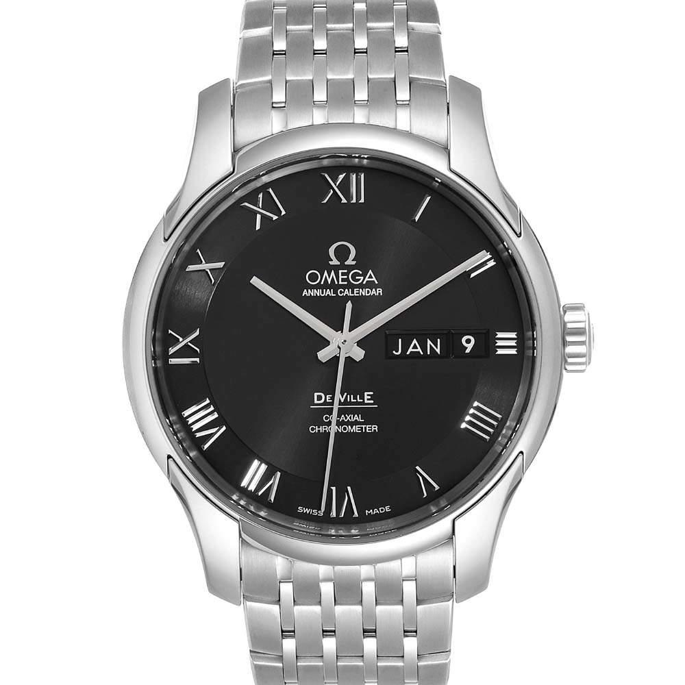 Omega Black Stainless Steel DeVille 431.10.41.22.01.001 Men's Wristwatch 41 MM
