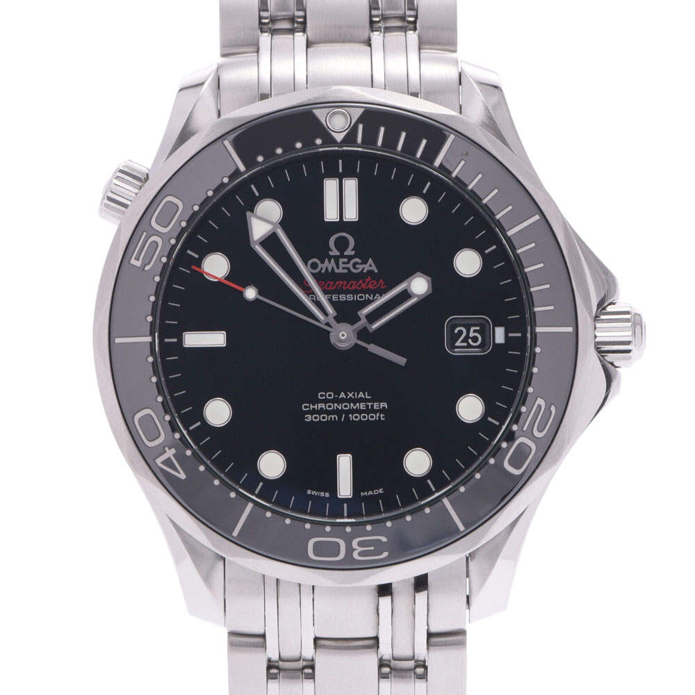 Omega Black Stainless Steel Seamaster Professional 300 Co-Axial 212.30.41.20.01.003 Men's Wristwatch 41 MM