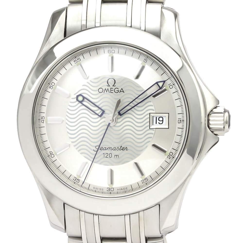 Omega Silver Stainless Steel Seamaster Quartz 2511.31 Men's Wristwatch 36 MM