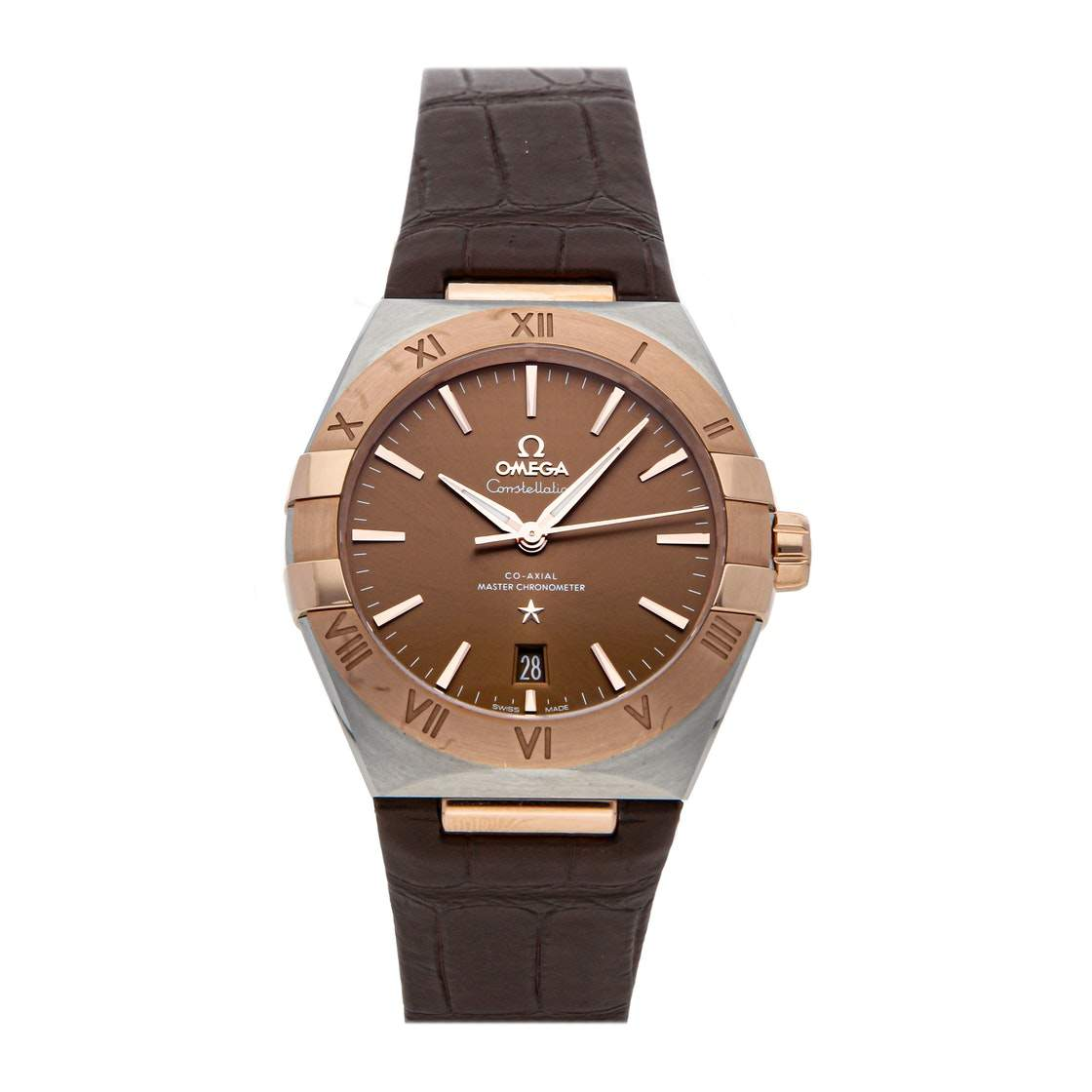 Omega Brown 18k Yellow Gold And Stainless Steel Constellation 131.23.39.20.13.001 Men's Wristwatch 39 MM