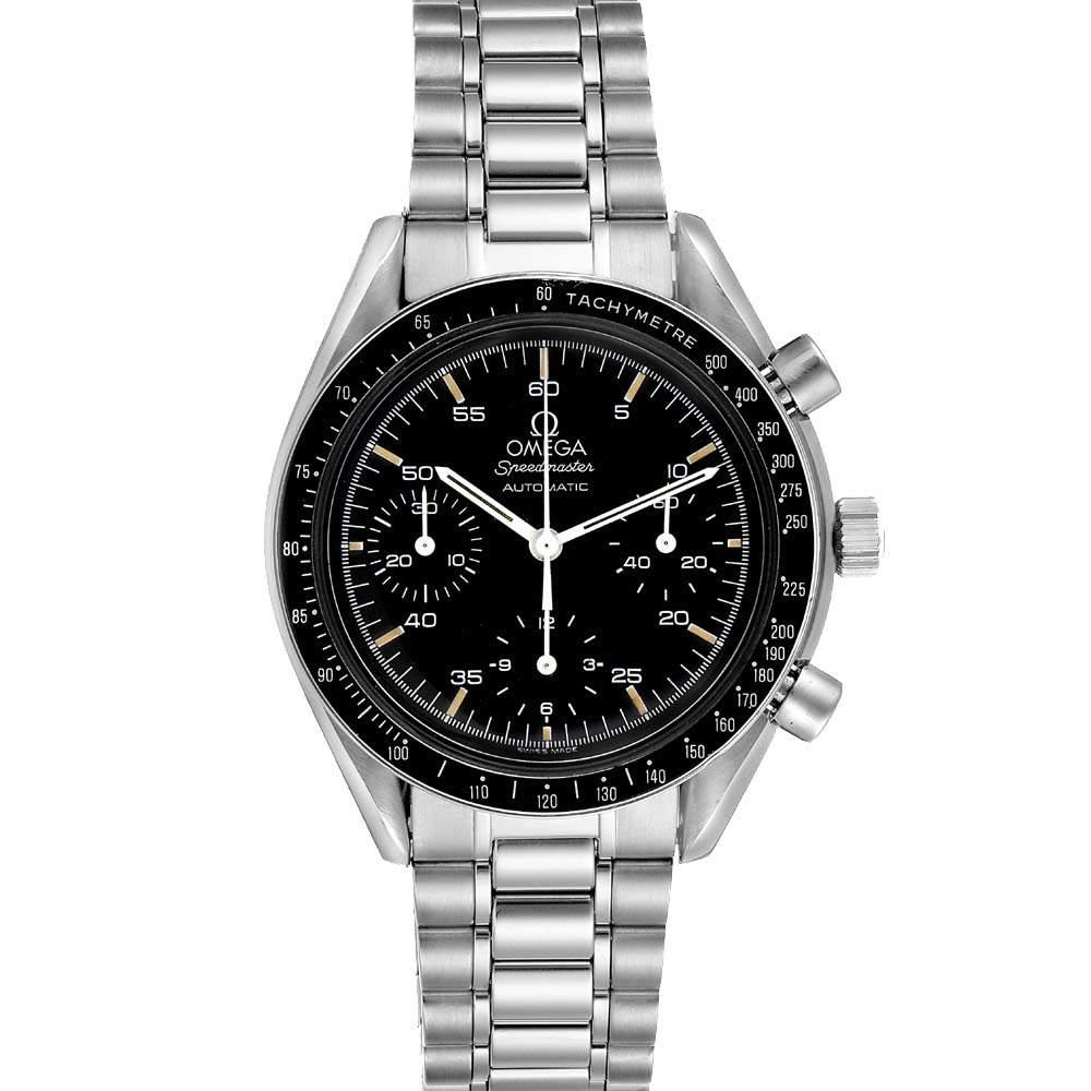 Omega Black Stainless Steel Speedmaster Reduced 3510.50.00 Men's Wristwatch 39 MM