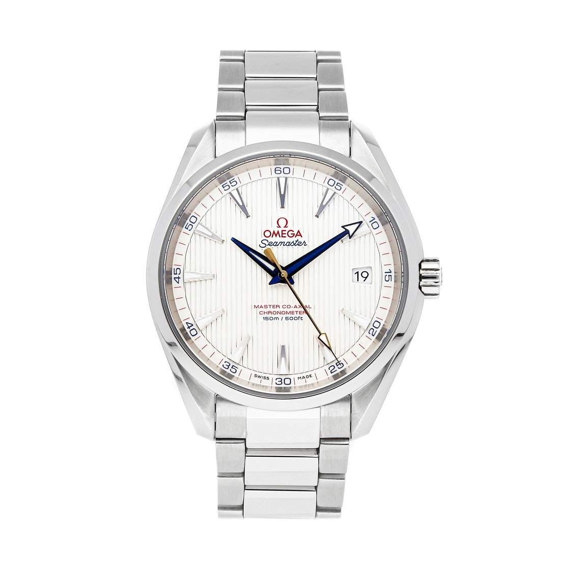 "Omega Silver Stainless Steel Seamaster Aqua Terra ""Golf Edition"" 231.10.42.21.02.004 Men's Wristwatch 41.5 MM"
