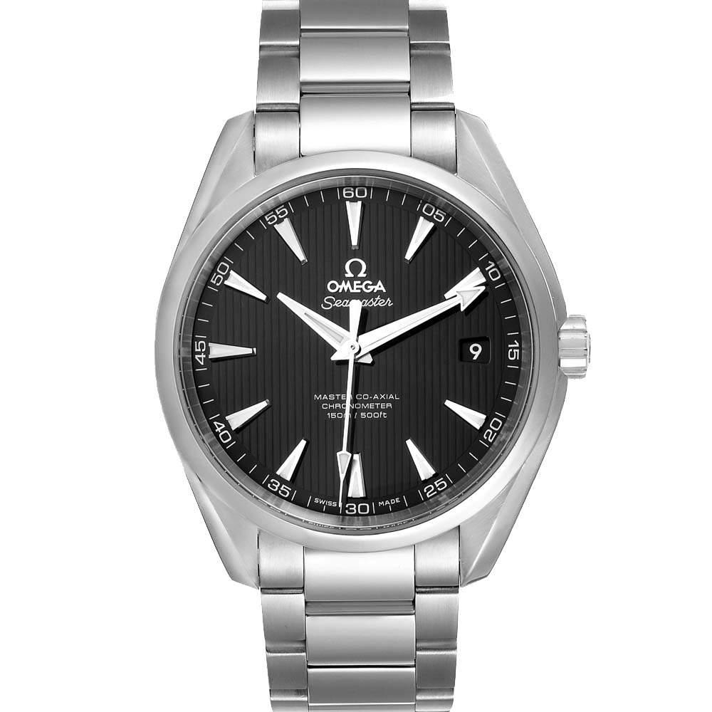 Omega Black Stainless Steel Seamaster Aqua Terra 231.10.42.21.01.003 Men's Wristwatch 41.5 MM