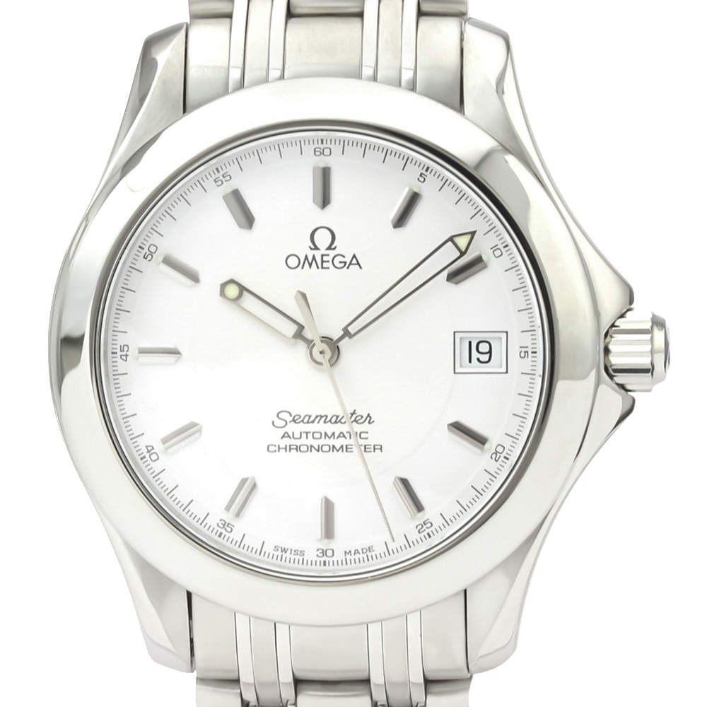 Omega Silver Stainless Steel Seamaster 2501.21 Automatic Men's Wristwatch 36 MM