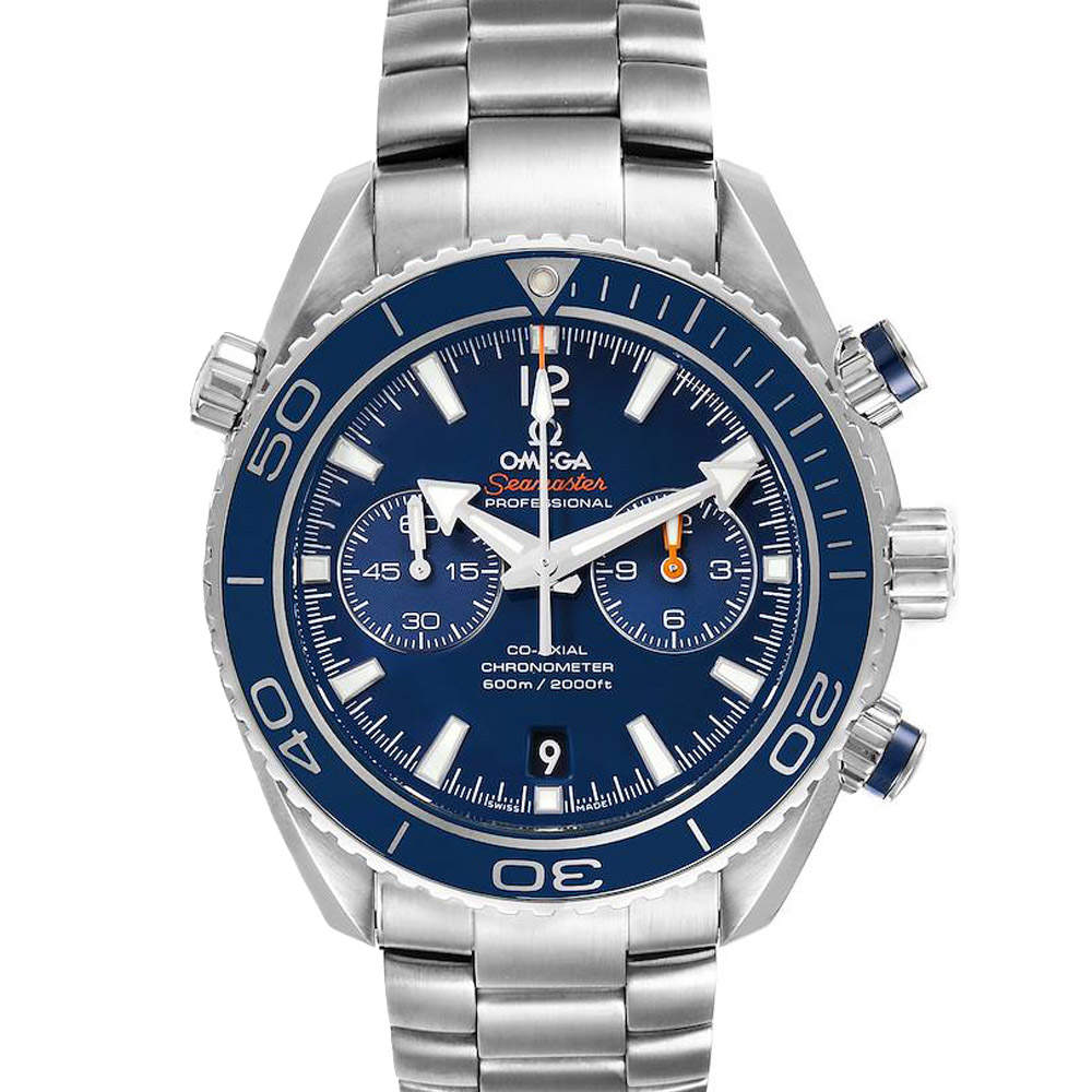 Omega Blue Titanium Planet Ocean Co-Axial 232.90.46.51.03.001 Men's Wristwatch 45.5 MM