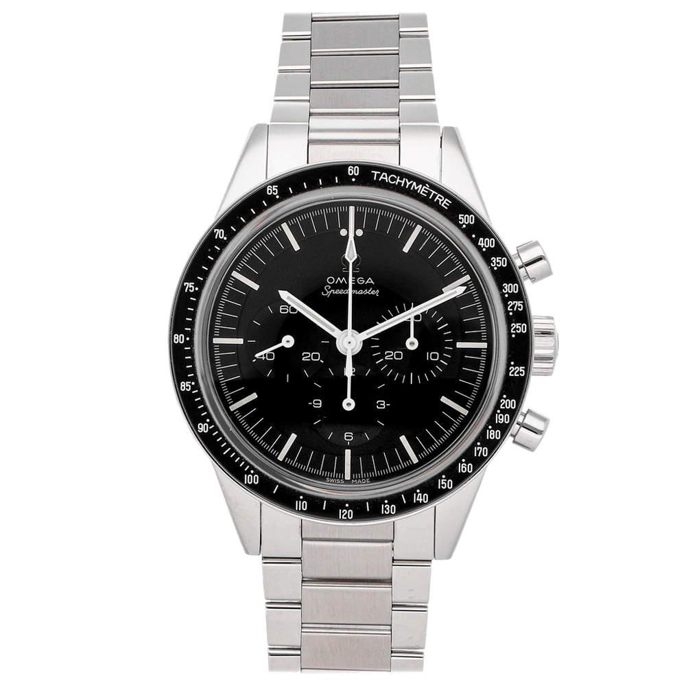 "Omega Black Stainless Steel Speedmaster Calibre 321 ""Ed White"" Chronograph 311.30.40.30.01.001 Men's Wristwatch 39 MM"