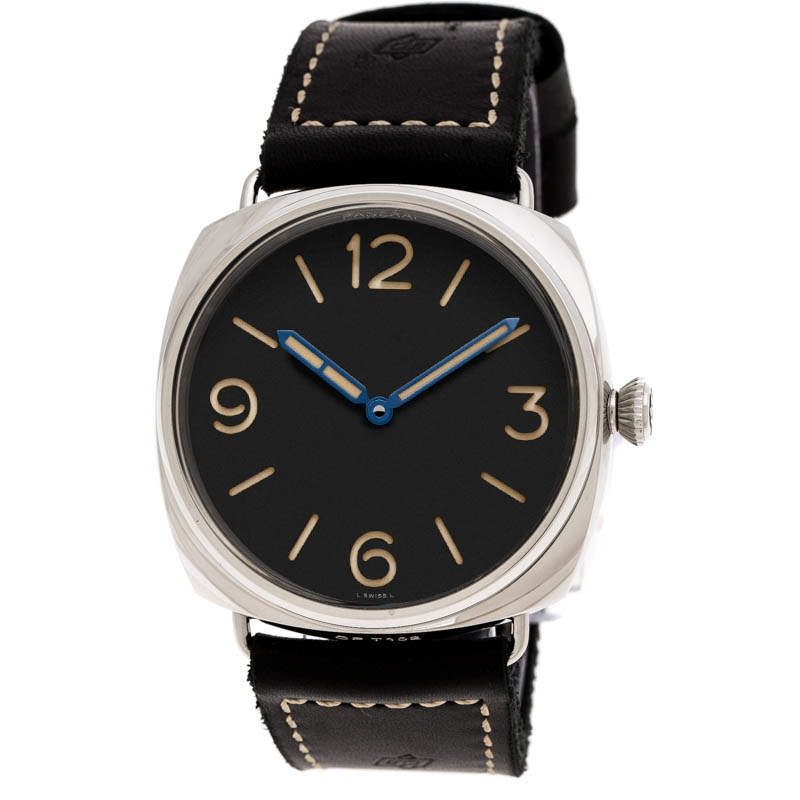 Panerai Black Stainless Steel Special Limited Edition Radiomir 3 Days PAM00721 Men's Wristwatch 47 mm