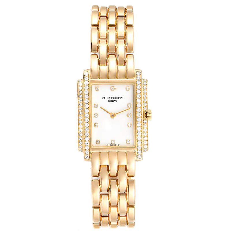 Patek Philippe White 18K Yellow Gold Diamond Gondolo 4825 Women's Wristwatch 29x22.5MM