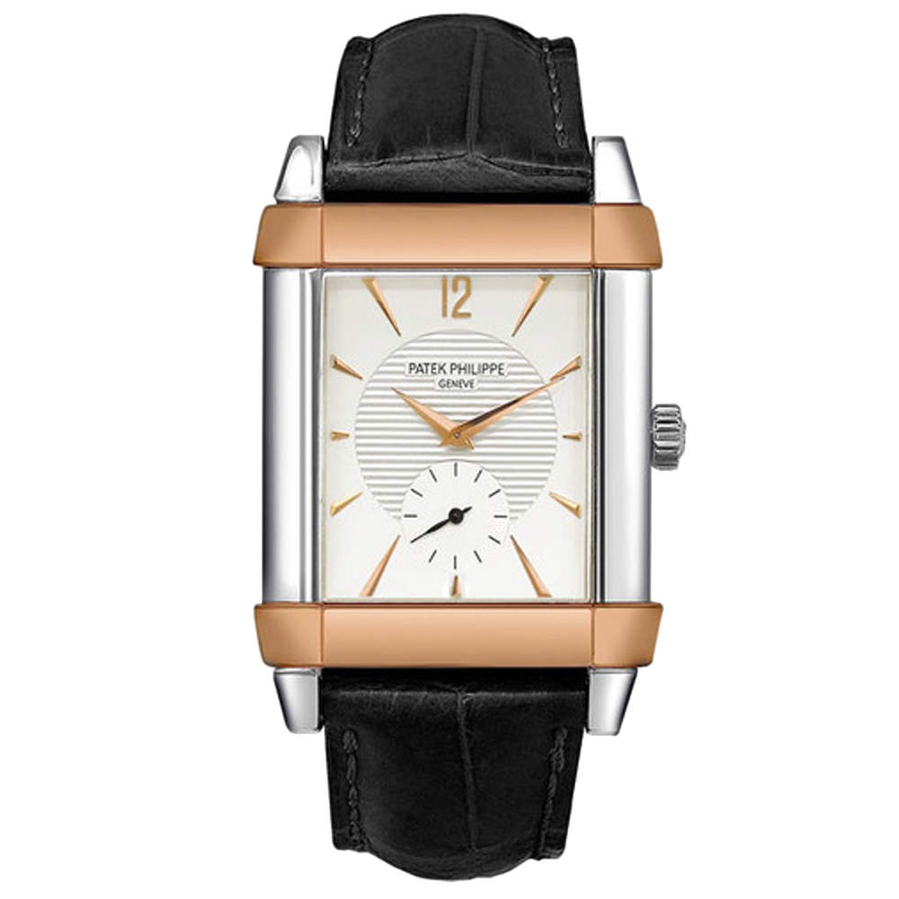 Patek Philippe Silver 18K Rose Gold And Platinum Gondolo 5111PR-001 Men's Wristwatch 35 MM