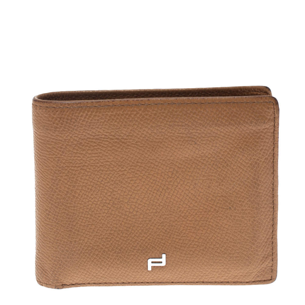Porsche Design Tan Leather French H8 Classic 3.0 Billfold Wallet