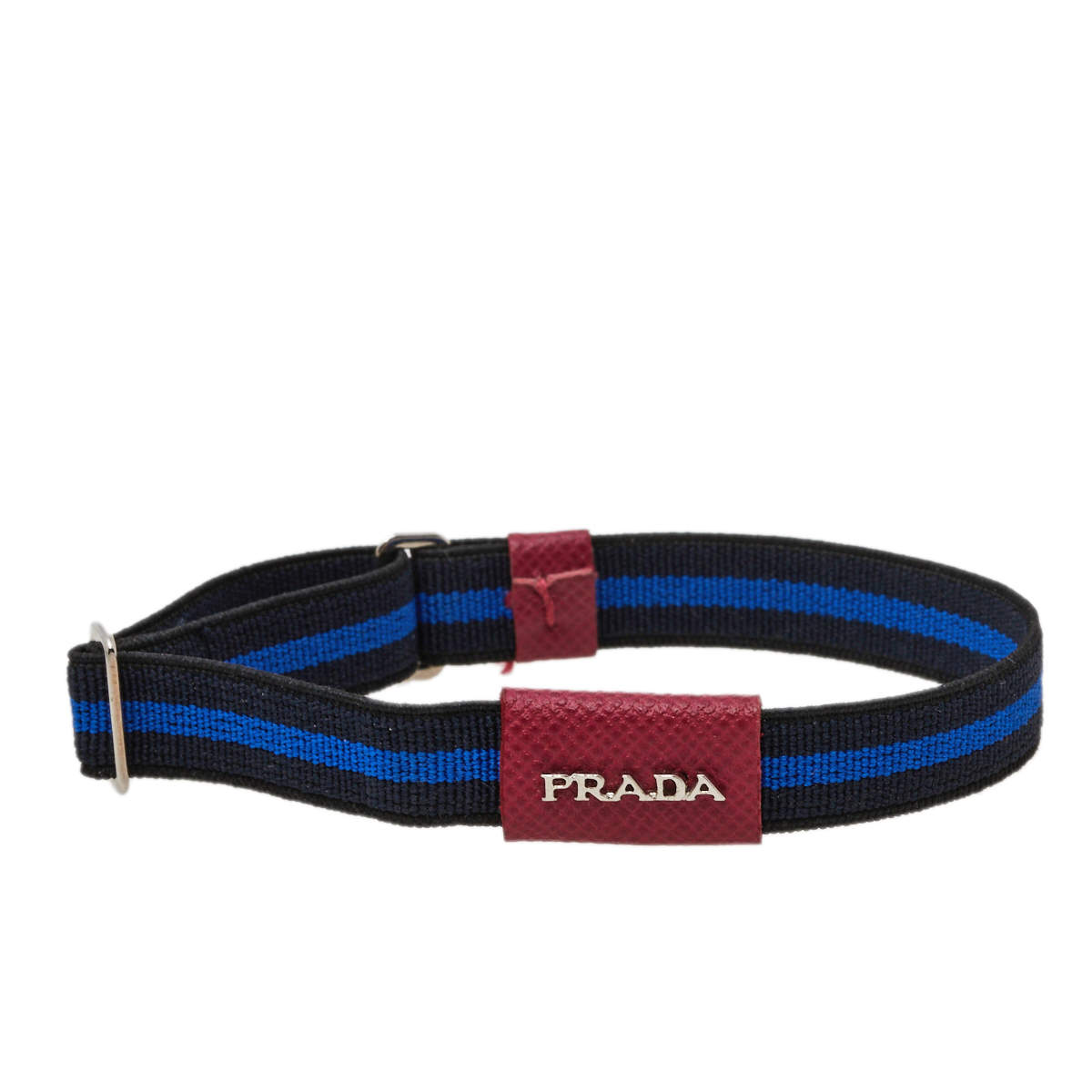 Prada Bicolor Striped Elasticized Adjustable Bracelet