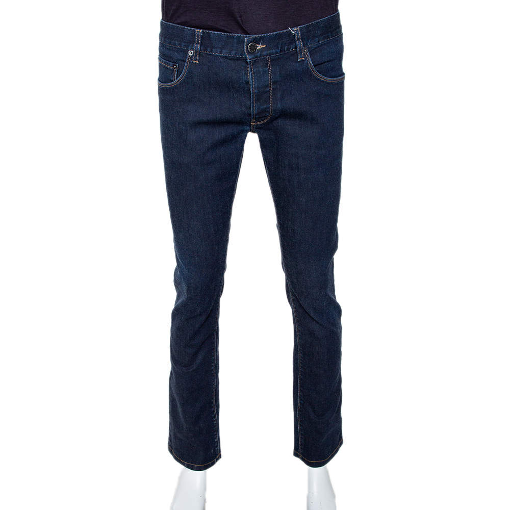 Prada Indigo Denim Tapered Fit Jeans M