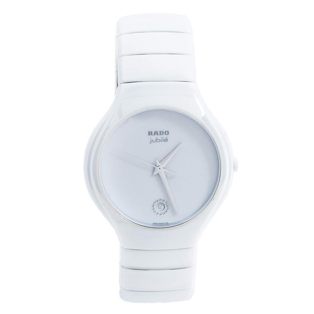 Rado White Ceramic True Jubile R27695722 Men's Wristwatch 40 mm