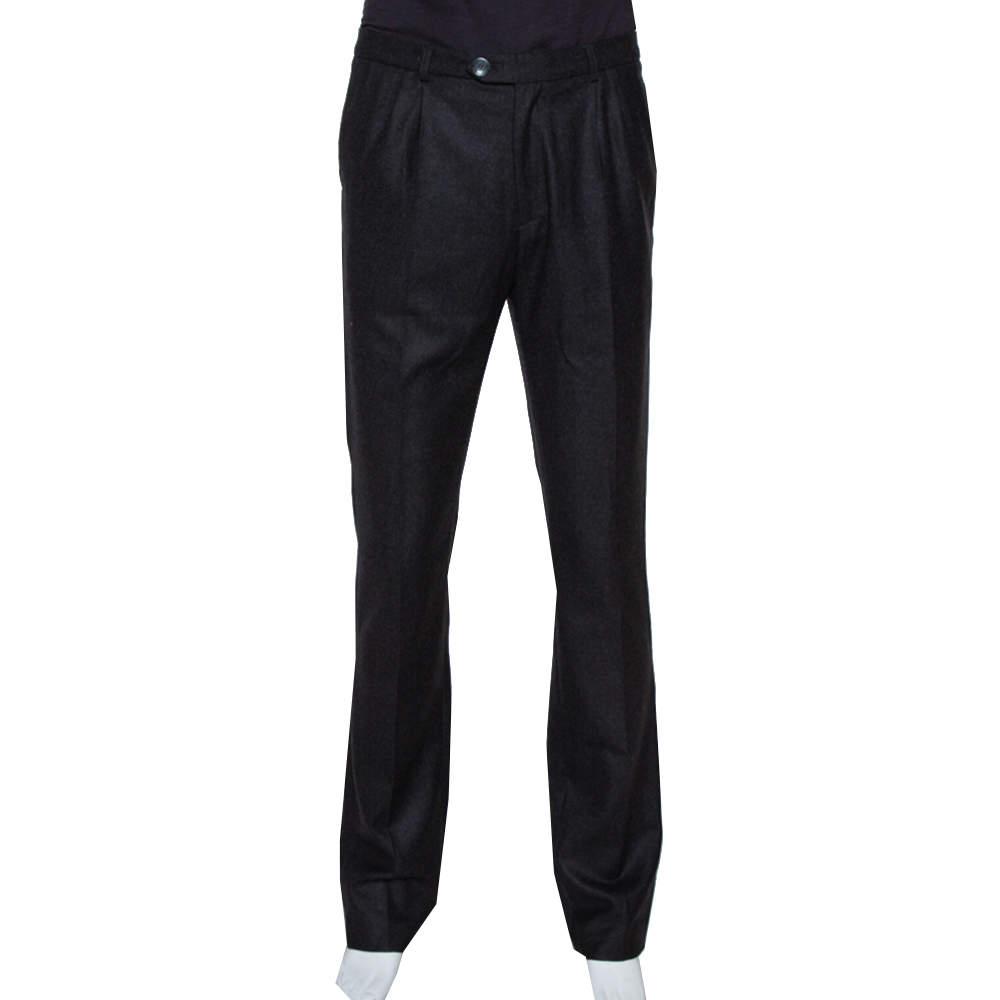 Raf Simons Black Wool Tailored Pants XL