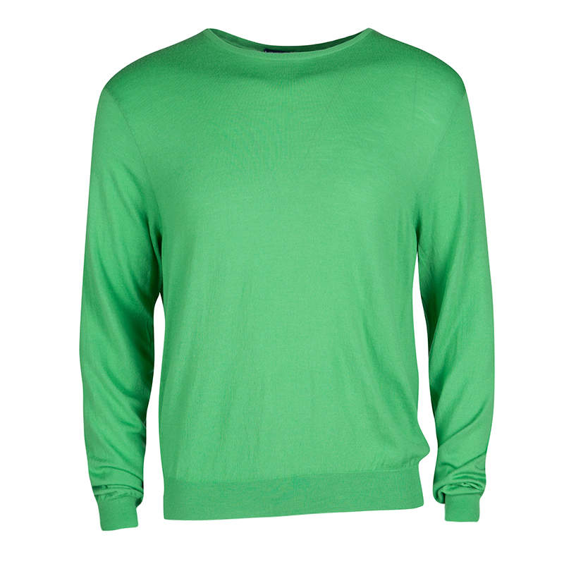Ralph Lauren Parrot Green Long Sleeve Sweater XL
