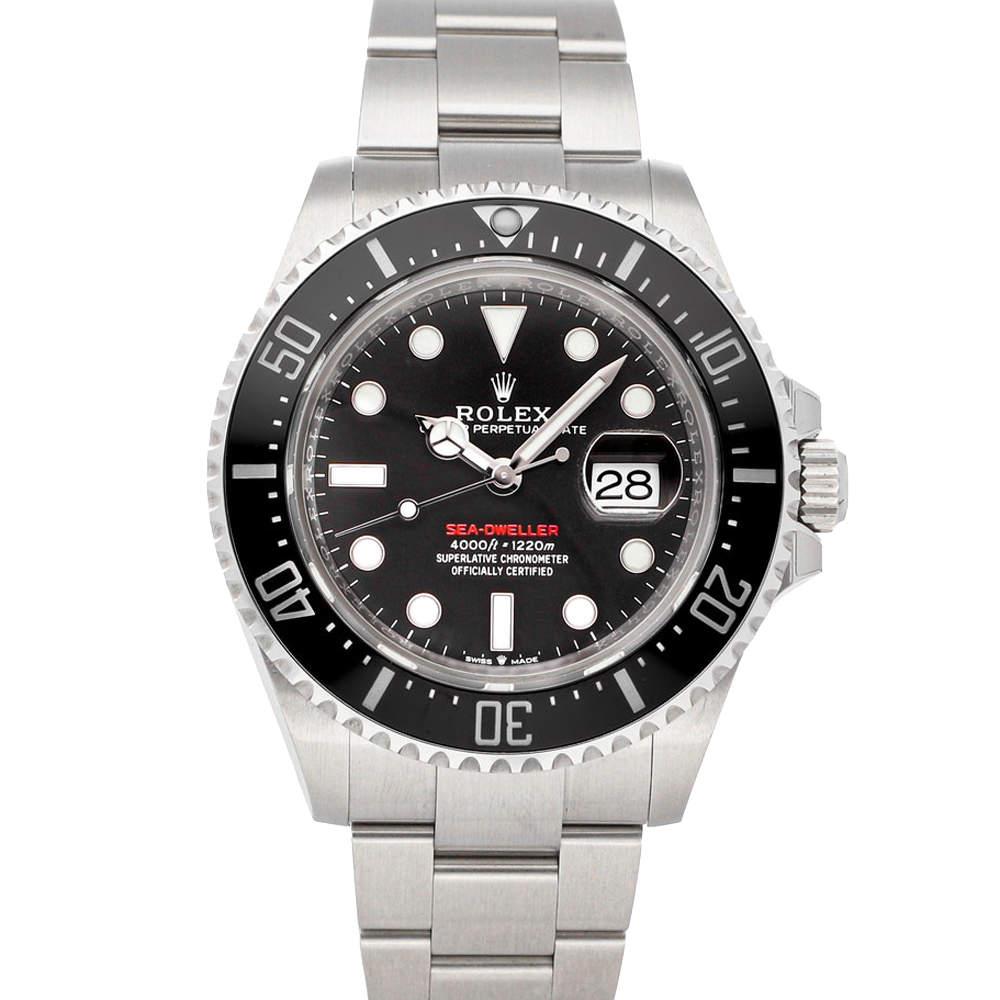 Rolex Black Stainless Steel Sea-Dweller 126600 Men's Wristwatch 43 MM