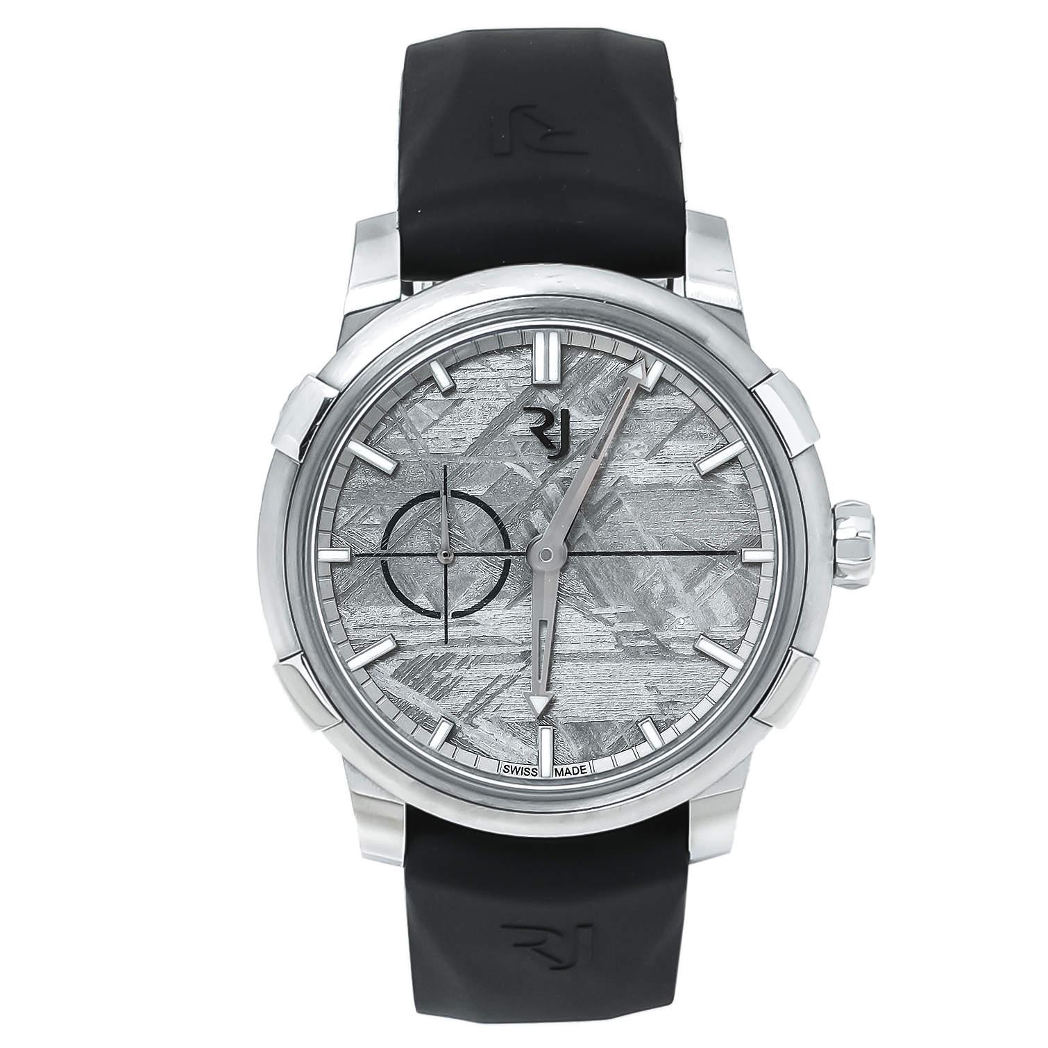 Romain Jerome 1696 Heavy Metal Meteorite Stainless Steel Rubber Moon DNA 1969 RJ.M.AU.00.03 Men's Wristwatch 43 mm