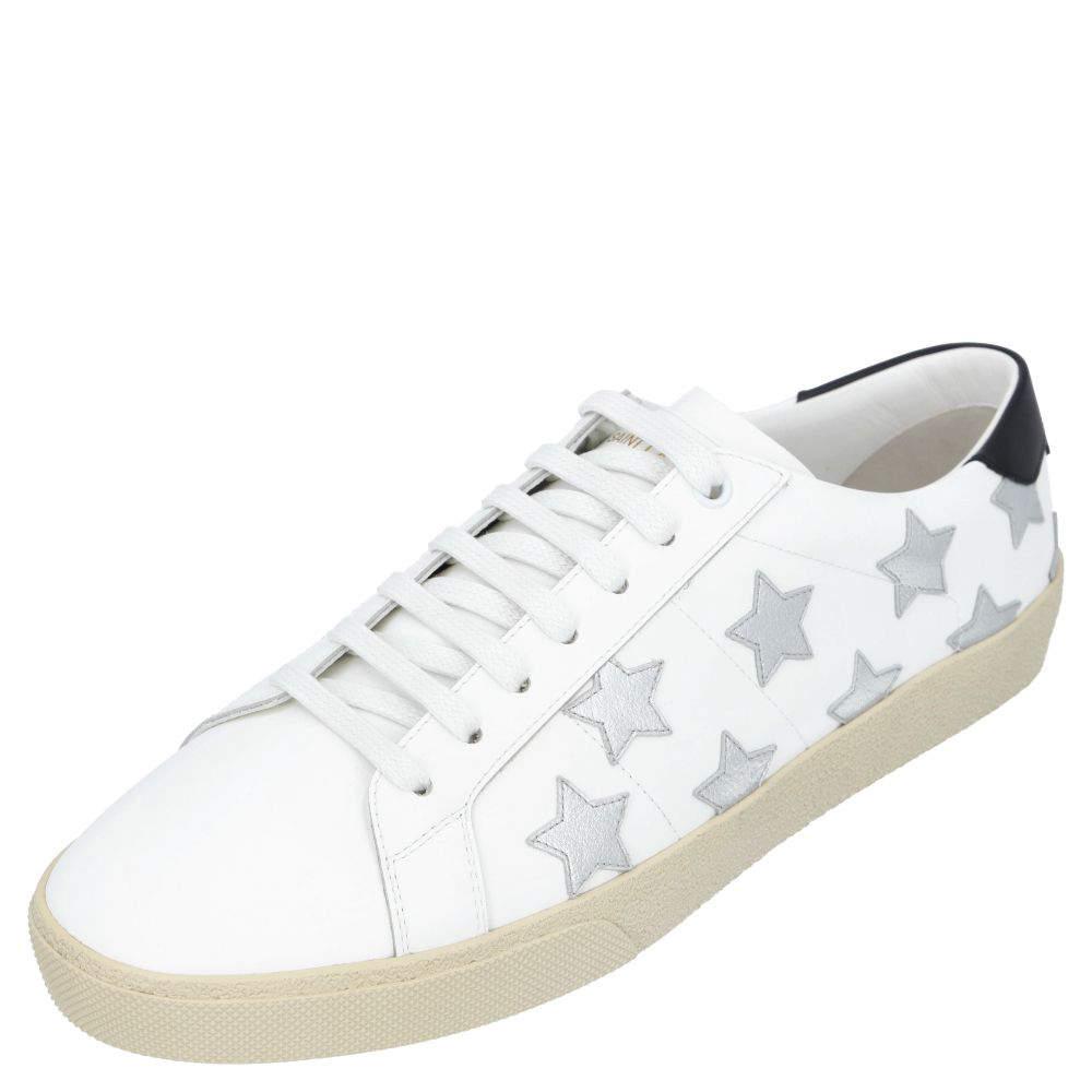 Saint Laurent Paris Court Classic SL/06 Metallic California Sneakers Size EU 41