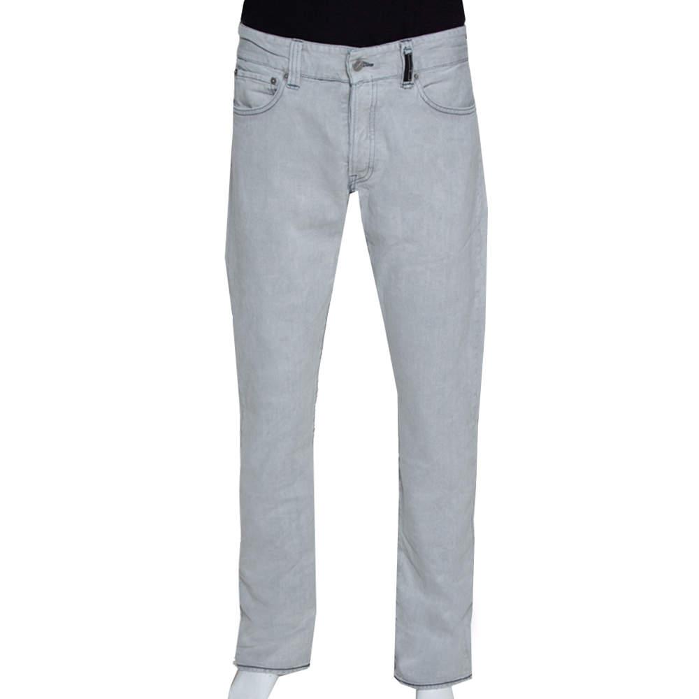 Stone Island Pale Grey Denim New Steel Narrow Leg Jeans XXL