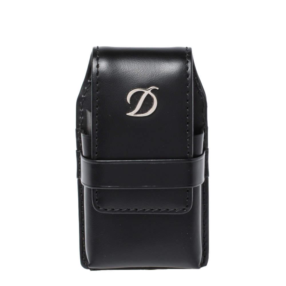 S.T. Dupont Black Leather Line D Lighter Case