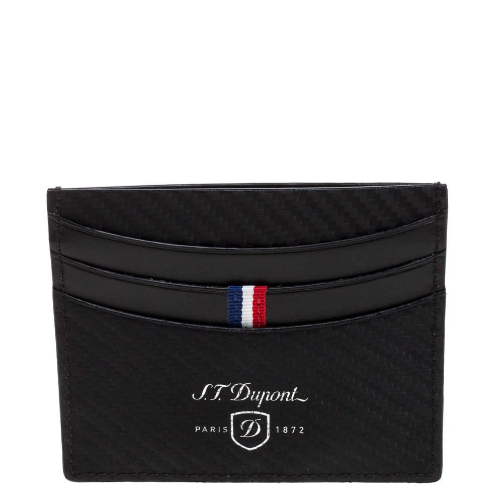 S.T. Dupont Black Leather Defi Card Holder